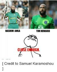 Tim Howard Memes - hashim amla clasee tim howard gh credit to samuel karamoshou