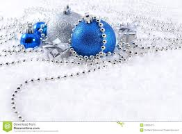 Christmas Decorations In Blue And White by Silver And Blue Christmas Decorations Stock Photos Image 34322473