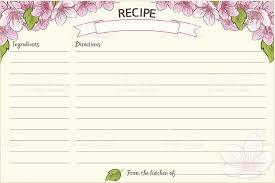 old fashioned recipe card template floral stock vector art