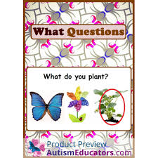 questions autism worksheets for special ed and speech therapy