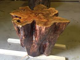 tree trunk end table beautiful tree stump table centre point blog home