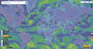 Earth Wind Map Wind Rain And Temperature Animated Maps Ecoclimax