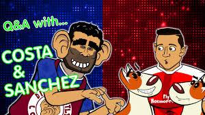 alexis sanchez youtube q a with costa sanchez parody chelsea vs arsenal 2017 preview