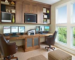 Interior Design Home Study Mesmerizing Double Office Desk Great Interior Designing Home Ideas