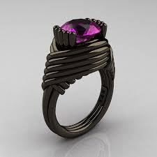 Purple Wedding Rings by Best 25 Amethyst Wedding Rings Ideas On Pinterest Purple