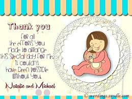 mod baby shower baby shower thank you card wording ideas mod by note gift