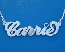 Carrie Name Necklace Carrie Name Necklace Etsy