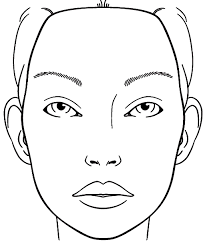 blank face chart sketch coloring page teagan u0027s 7th pinterest