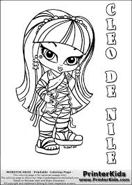 monster high chibi coloring pages monster high cleo coloring pages getcoloringpages com