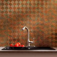 Decorative Thermoplastic Panels Fasade 24 In X 18 In Hammered Pvc Decorative Backsplash Panel In