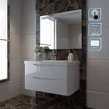 Anti Mist Bathroom Mirror Led Illuminated Bathroom Mirror 1000x700mm Rectangular