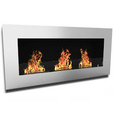 elite flame monroe ventless bio ethanol wall mounted fireplace