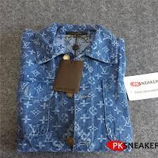 wu 159 supreme x louis vuitton denim barn shirt brand clothes