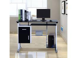 bureau informatique noir bureau informatique design en bois 100 l x 52 i x 45h cm