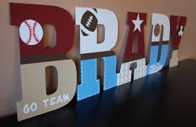 Letter Decorations For Nursery 13 Sports Theme Nursery Wall Letters By Lovebbycarrie On Etsy
