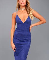 blue bodycon dress blue bodycon dress suede bodycon dress price 57 00