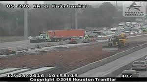 Houston Transtar Map Northwest Freeway Reopens At Fairbanks After Crash