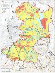 Eros Map Cougar Creek Fire Burn Severity Maps Friends Of Mount Adams