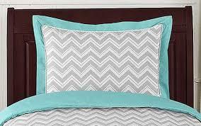 Turquoise Comforter Set Queen Zig Zag Turquoise U0026 Gray Chevron Comforter Set Twin Size