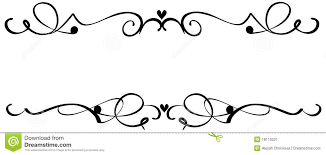 scroll ornaments stock vector image of line abstraction