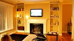home design built in bookshelves fireplace windows fence outdoor
