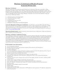 Certification Cover Letter Sle Cover Letter Pharmacy Technician Objective For Resume Objective
