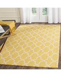 Yellow Flat Weave Rug Slash Prices On Safavieh Cedar Brook Collection Cdr233b Geometric