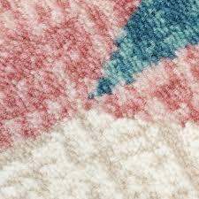 teppich rund rosa teppich vintage modern design wohnzimmer inspiration way