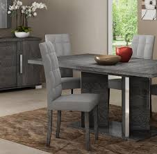 modern grey dining table venicia grey birch collection modern dining chair grey microfibre