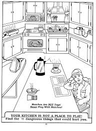 coloring pages of kitchen things kitchen safety coloring pages go back gallery for kitchen safety