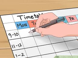 10 How To Create A How To Make A Timetable 15 Steps With Pictures Wikihow