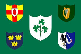irish rugby football union flag which represents both the