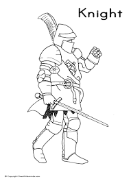 medieval knight coloring free download