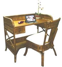 Study Bedroom Furniture by Desk Wicker Rattan Computer Desk Modern Water Hyacinth Swivel