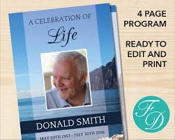 memorial program ideas 82 best landscape funeral program templates images on