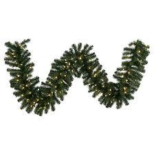 9ft douglas fir garland with led lights green target