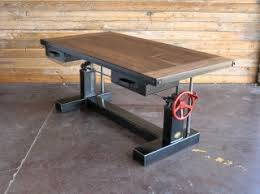 Dining Table Vintage Industrial Furniture - Adjustable height kitchen table