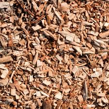 seamless tiling woodchips for landscaping background stock photo