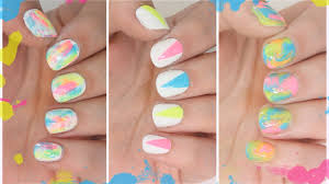 3 easy neon summer nail art designs youtube