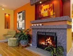 modern interior design ideas celebrating bright orange color