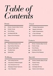 pale pink simple elegant table of contents templates by canva