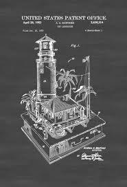 Seaside Decor 1953 Lighthouse Patent Print Beach House Decor Wall Decor Wall