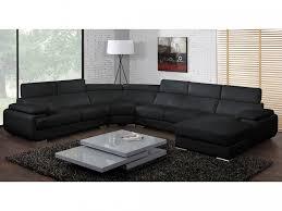 canapé panoramique en cuir canapé panoramique 7 places en cuir elevanto noir angle droit