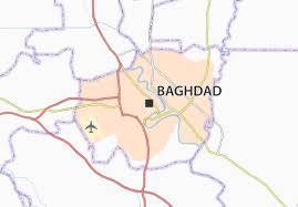 map of bagdad baghdad map detailed maps for the city of baghdad viamichelin