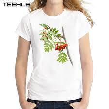 2017 fashion rowan tree design sleeve t shirt