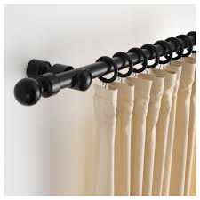 Corner Drapery Hardware Curtains Glossy Black Curtain Rods Lowes For Inspiring Home