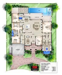 south florida designs anna ii 1 story coastal contemporary house