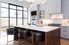 kitchen island chairs with backs gray leather barrel back counter stools design ideas
