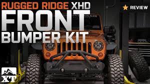 wrangler rugged ridge xhd front bumper kit w striker bar u0026 stubby