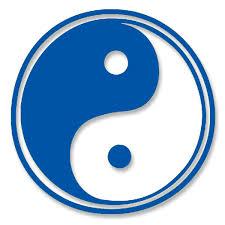 yin yang taoism symbol of balance small vinyl cutout window